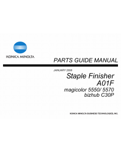 Konica-Minolta magicolor 5550 5570 C30P Staple-Finisher A01F Parts Manual