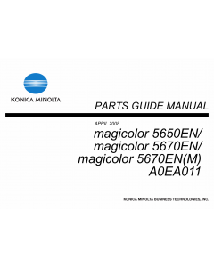 Konica-Minolta magicolor 5650EN 5670EN A0EA011 Parts Manual