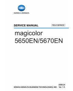 Konica-Minolta magicolor 5650EN 5670EN FIELD-SERVICE Service Manual
