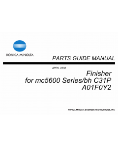 Konica-Minolta magicolor 5650 C31P Finisher A01F0Y2 Parts Manual