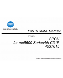 Konica-Minolta magicolor 5650 C31P SPCU 4537615 Parts Manual
