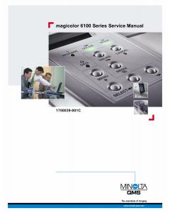 Konica-Minolta magicolor 6100 Service Manual
