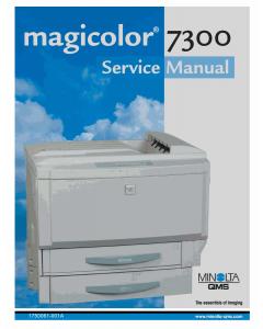 Konica-Minolta magicolor 7300 Service Manual