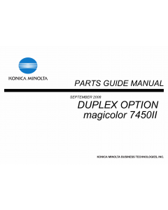 Konica-Minolta magicolor 7450II Duplex-Option Parts Manual