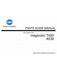 Konica-Minolta magicolor 7450 Parts Manual