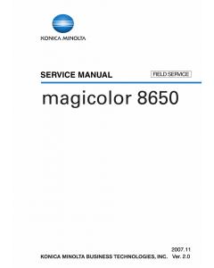 Konica-Minolta magicolor 8650 FIELD-SERVICE Service Manual