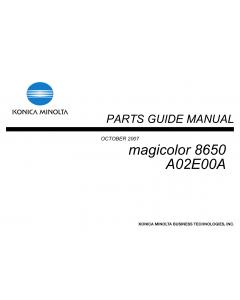 Konica-Minolta magicolor 8650 Parts Manual