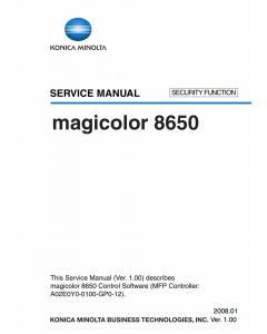 Konica-Minolta magicolor 8650 SECURITY-FUNCTION Service Manual