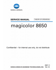 Konica-Minolta magicolor 8650 THEORY-OPERATION Service Manual