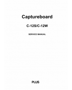 Konica-Minolta magicolor CaptureBoard C-12S C-12W Service Manual