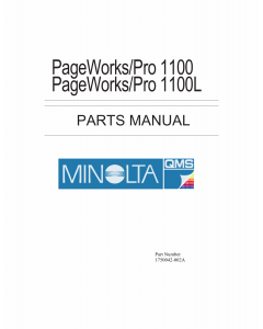 Konica-Minolta pagepro 1100 1100L Parts Manual
