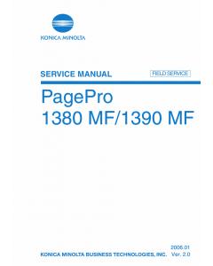 Konica-Minolta pagepro 1380MF 1390MF FIELD-SERVICE Service Manual