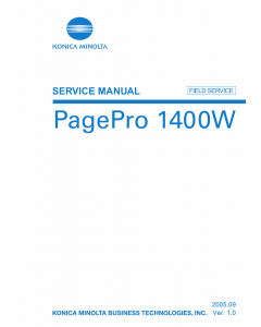 Konica-Minolta pagepro 1400W FIELD-SERVICE Service Manual