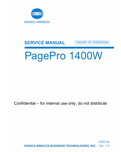 Konica-Minolta pagepro 1400W THEORY-OPERATION Service Manual