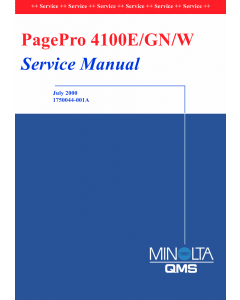 Konica-Minolta pagepro 4100E Parts Manual