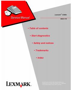 Lexmark C C500n 5023 Service Manual