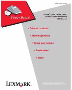 Lexmark C C540n C543dn C544 5025 Service Manual