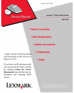 Lexmark C C930 C935 5057 Service Manual