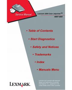 Lexmark ColorJetprinter 3200 4097 Service Manual