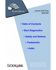 Lexmark Forms 23XX Service Manual