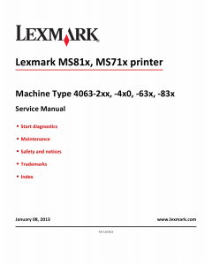 Lexmark MS M5150 MS710 MS711 MS810 MS811 MS812 4063 Service Manual
