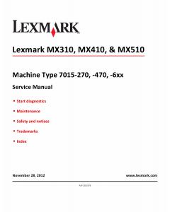 Lexmark MX MX310 MX410 MX510 7015 Service Manual