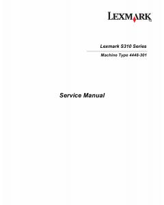 Lexmark S S310 4448 Service Manual