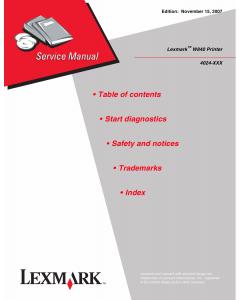 Lexmark W W840 4024 Service Manual
