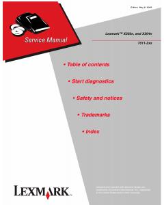 Lexmark X X203n X204n 7011 Service Manual
