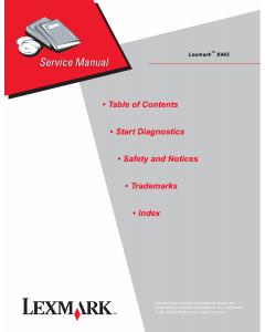 Lexmark X X443 4036 Service Manual
