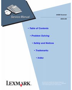 Lexmark X X4500 4036 Service Manual