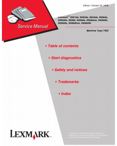 Lexmark X X651 X652 654 X656 X658 7462 Service Manual