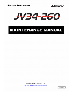 MIMAKI JV34 260 MAINTENANCE Service Manual