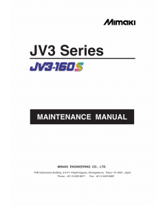 MIMAKI JV3 130S 160S MAINTENANCE Service Manual