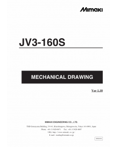 MIMAKI JV3 160S MECHANICAL DRAWING Parts Manual