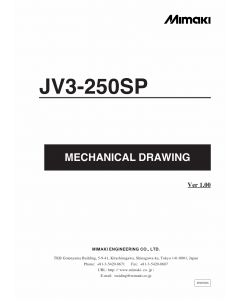 MIMAKI JV3 250SP MECHANICAL DRAWING Parts Manual