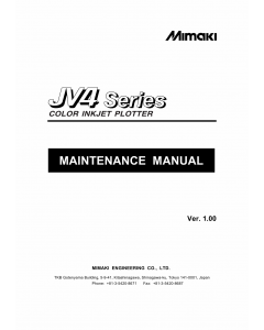 MIMAKI JV4 130 160 180 MAINTENANCE Service Manual