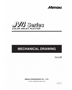 MIMAKI JV4 130 160 180 MECHANICAL DRAWING Parts Manual