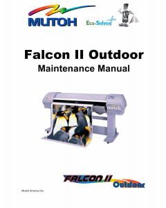 MUTOH FalconII Outdoor Service Manual