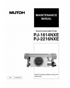 MUTOH PJ 1614 2216 NEX Service Manual