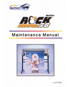 MUTOH RockHopper 38 Service Manual
