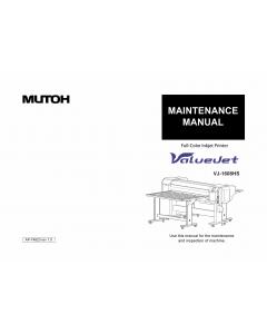 MUTOH ValueJet VJ 1608HS MAINTENANCE Service Manual