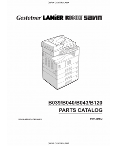 RICOH Aficio 1113 B120 Parts Catalog