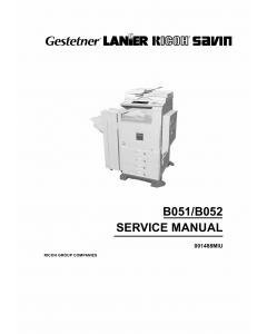 RICOH Aficio 1224C 1232C B051 B052 Parts Service Manual