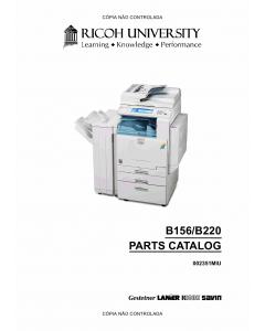 RICOH Aficio 3224C 3232C B156 B220 Parts Catalog