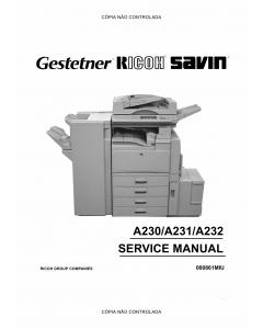 RICOH Aficio 340 350 450 A230 A231 A232 Service Manual