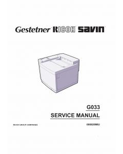 RICOH Aficio AP-204 G033 Parts Service Manual