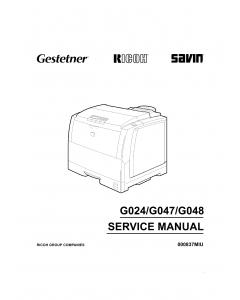 RICOH Aficio AP-305 AP306 AP505 G024 G047 G048 Parts Service Manuall