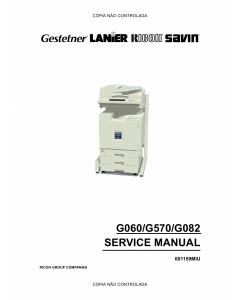 RICOH Aficio AP-3800C 3800CMF 3850C G060 G570 G082 Service Manual
