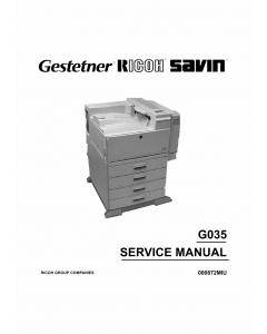 RICOH Aficio AP-4500 G035 Parts Service Manual